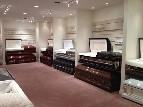 Mills Funeral Home Showroom